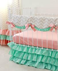 mint sorbet chevron nursery bedding lottie da baby baby