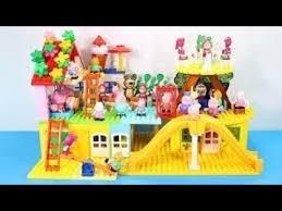 peppa pig blocks mega maison jouets pour enfants lego duplo maison