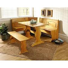 essential home 3 piece emily breakfast nook in pine