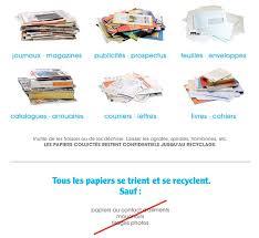 recyclage papier bureau syvalom