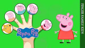 Peppa Pig George Pumpkin Stencil by Finger Family Song Peppa Pig George Daddy Pig Mummy Pig Teddy