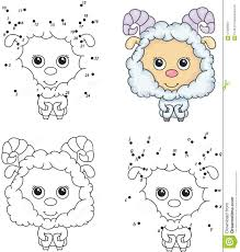 Royalty Free Vector Download Cartoon Fluffy Sheep Coloring Book