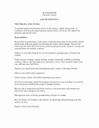 Information Technology Resume Examples Lovely General Objective Statements Housekeeping