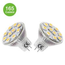 1 8w mr11 gu4 led bulbs warm white 165lm 20w halogen replacement le
