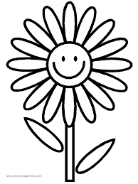 Flower Printables On Pinterest Coloring Pages