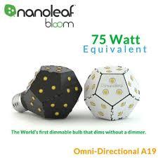 nanoleaf bloom dimmable 75 watt equal omni directional led