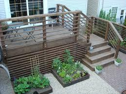 Horizontal Deck Railing Ideas by Deck Stairs Urban Landscape Garden Design Topiarius Garden