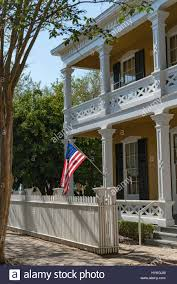 100 Dorr House The Sun Catches The US Flag On The Pensacola Florida