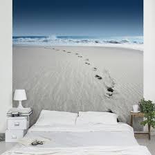 3d fototapete meer spuren im sand vliestapete quadrat