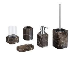 nicol badaccessoires set 5 teilig octavia aus echtem marmor wc bürstengarnitur seifenspender becher seifenschale ceres webshop