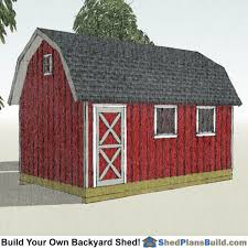 free 12x16 gambrel shed material list 12x20 gambrel shed plans small barn shed