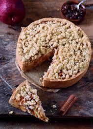 veganer apfelkuchen mit streuseln apple pie elavegan