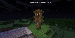 Minecraft Glowstone Lamp Post by Medieval Street Lamp Minecraft Project