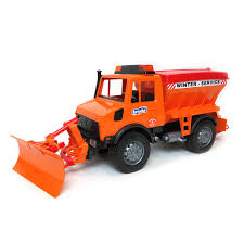 100 Bruder Trucks 116th WinterService Spreader Truck With Snow Blade By