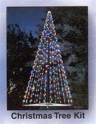 Flagpole Christmas Light Kit