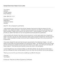 General Helper Resume Sample With Maintenance Electrician Cover Letter Job Description