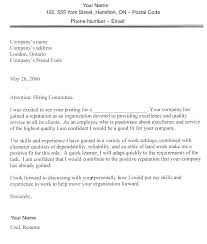 Cover Letter For Employment Samples Example Jobs Sample Letters