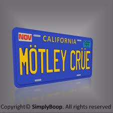 Motley Crue Los Angeles California Prop Relica Vanity License