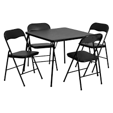 Cosco Folding Chairs And Table by Cosco 34 In Square Table And Chair Set Wheat 5 Pack Hayneedle