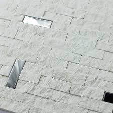 white marble mosaic tile 3d kitchen backsplash stainless steel
