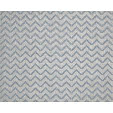 Material For Curtains And Blinds by Azig Sky Blue Patterned Linen Mix Oeko Tex Fabric