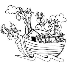 Print Coloring Noah Ark Page For Pair Of Animals In The Noahs Free Printable