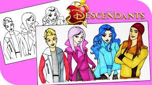 DISNEY Descendants Coloring Book Pages