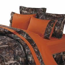 Blaze Orange Camouflage Sheets & Oak forter Sets Cabin Place