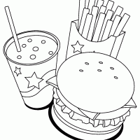 Fast Food Coloring Pages 14