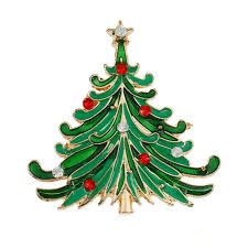 Discount Fashion Jewelry Ornament Christmas Tree Pin Brooch