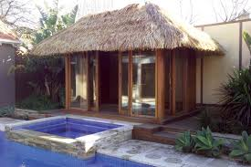 the thatch balinese hut is made from cape reed tiles its