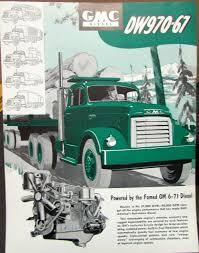 100 1953 Gmc Truck GMC Diesel DW970 67 Tractor Sales Brochure Data Sheet