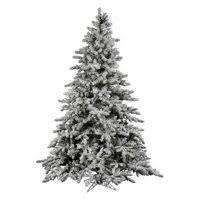 Product Image Vickerman Unlit 75 Flocked Utica Fir Artificial Christmas Tree