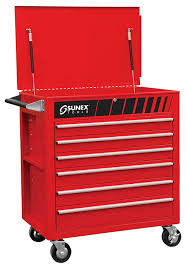 Sunex 8057O Premium Full Drawer Service Cart- Orange - - Amazon.com
