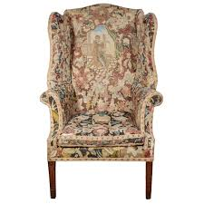 Late 18th C. George III Needlework Upholstered Wingback Armchair ... Fniture Small Upholstered Armchair Teal For Sale Chairs Cheap Club Living Room Chair Leather Swivel Tall Wingback Wing Outstanding Upholstered Living Room Chairs 75 Off Bhaus Usa Inc Geometric Recliners Sofa Recliner Armchairs Art Deco Herms 2015 For Sale At Pamono Recliner Fabric Upholstery 28 Images Classic Neutral Extraordinary Armchairs Upholsteredarmchairs Winsome Accent With Arms Ikea Hack Strandmon Rocker Diy Rocking L