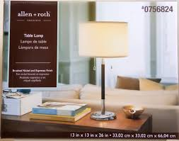 Allen Roth Brushed Nickel Floor Lamp by Shop Allen Roth 26 In Satin Nickel Standard Table Lamp With