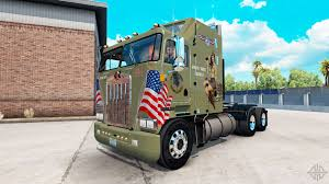 Skin Military Girls On Tractor Kenworth K100 For American Truck ...