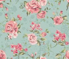 Black Vintage Floral Wallpaper Pattern