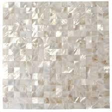 splashback tile lokahi 66 x 66 glass pearl shell mosaic tile