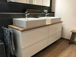 waschtischplatte tisch baumkante holz eiche massiv bad wc regal