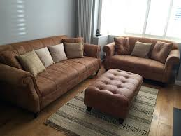 Brown Leather Couch Decor by Brown Leather Sofa Decor Furniture With Blue Accents Dark Set