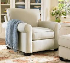 Pottery Barn Seagrass Club Chair by Buchanan Roll Arm Upholstered Armchair Pottery Barn
