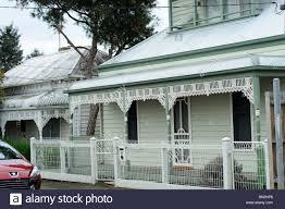 100 Melbourne Victorian Houses House Yarraville Australia Stock