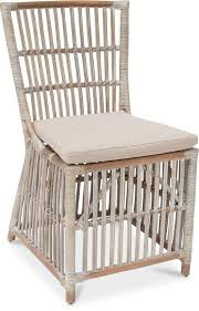 belmont dining chair 58x59 92cm grey washed rattan with beige cushion