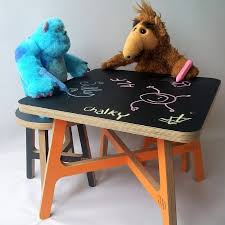 kid s play tables with a blackboard top children s room