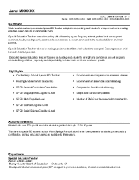 Educational Diagnostician Resume Example Allen
