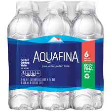 Aquafina Purified Drinking Water 6 1 L Bottles
