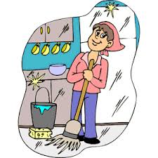 Cleaning Kitchen Clipart Cliparts Of