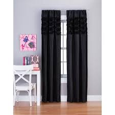 Purple Sheer Curtains Walmart by Your Zone Rosette Window Girls Bedroom Curtains Walmart Com