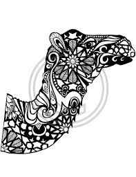 The Camel Project 3 Coloring Pages Colouring Adult Detailed Advanced Printable